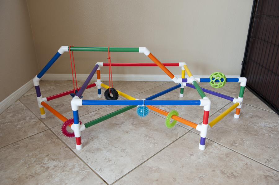 DIY puppy play gym