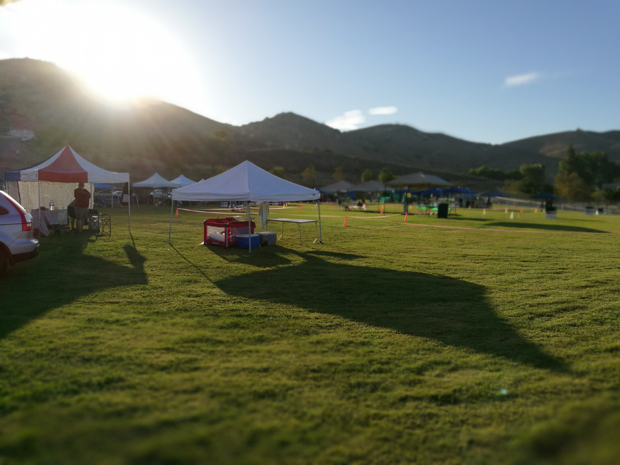 Sunrise at the dog show in Norco.